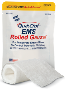 QuikClot<sup>®</sup> EMS Rolled Gauze